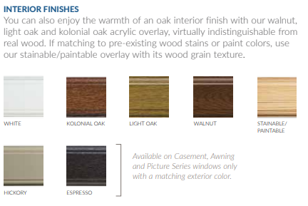 interior finishes for your luxury windows