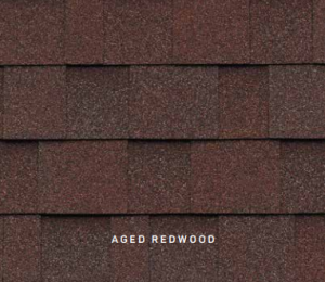 Aged Red Cambridge roofing shingles, roofing materials, double-layer laminate shingles, buy shingles