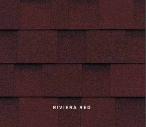 Riveria Red Cambridge roofing shingles, roofing materials, double-layer laminate shingles, buy shingles