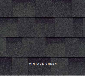 Vintage Green Cambridge roofing shingles, roofing materials, double-layer laminate shingles, buy shingles