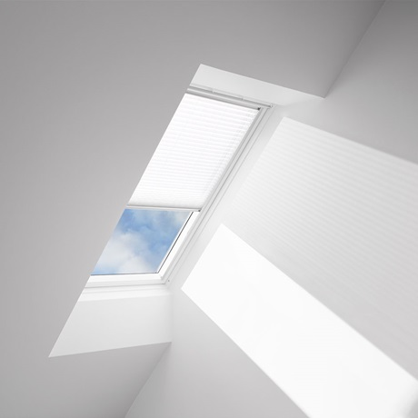 Velux Pleated light filtering skylight blinds and accessories
