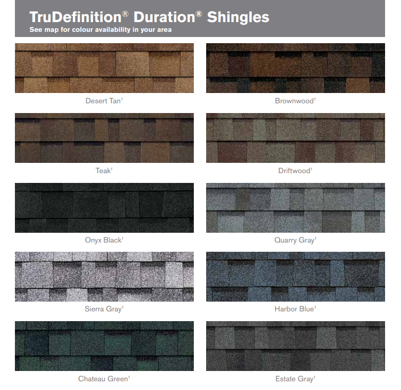 TruDefinition Duration Shingles roofing shingles, roofing materials, double-layer laminate shingles, buy shingles