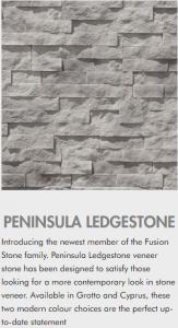 fusion stone veneer peninsula ledgestone
