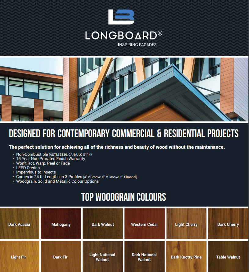 designed for contemporary commercial and residential projects