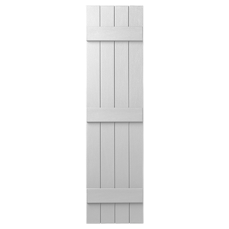 Napco shutters in board and batten closed feature