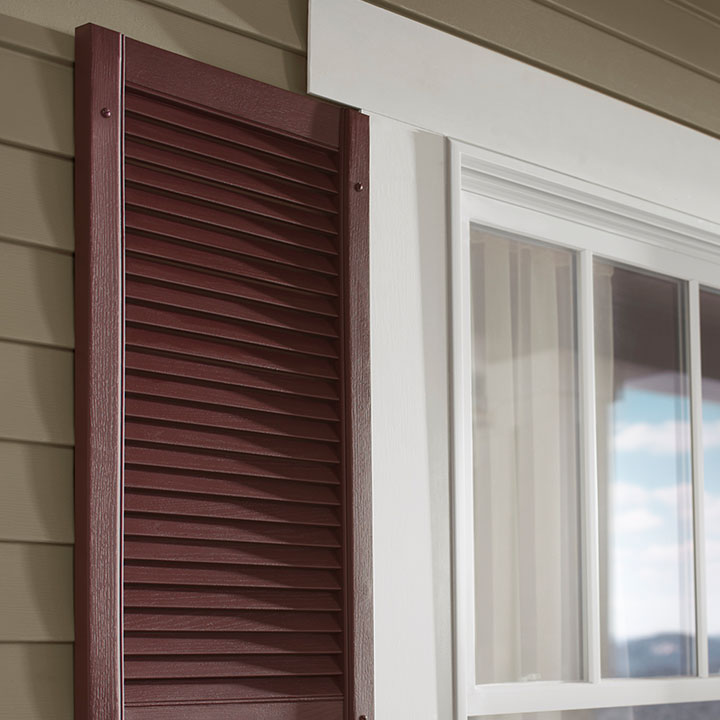 Napco Shutters with open louvered features