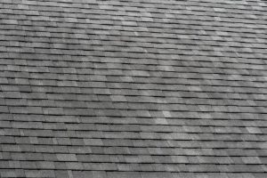 Grey, aged roof shingles